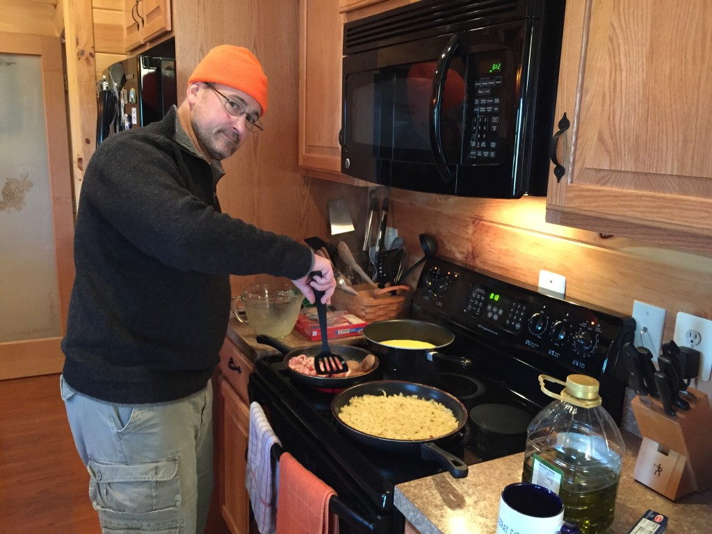 Steve made breakfast after the morning hunt
