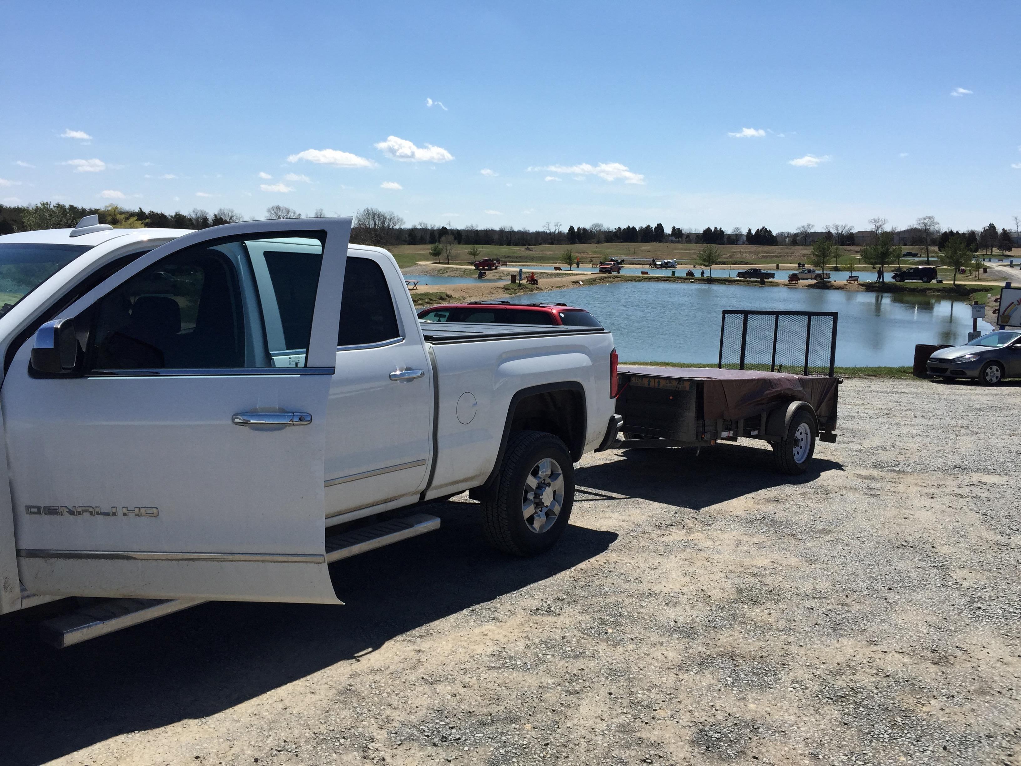 Stocked the big pond springfield farm for Zetts fish farm