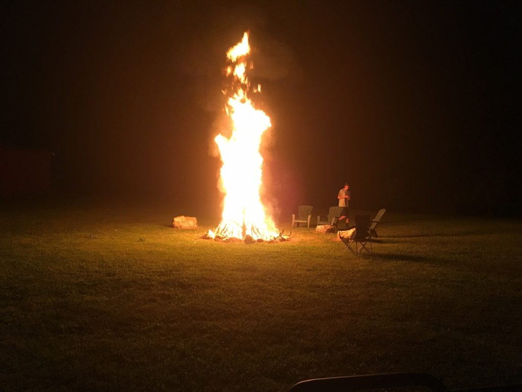 Massive bonfire